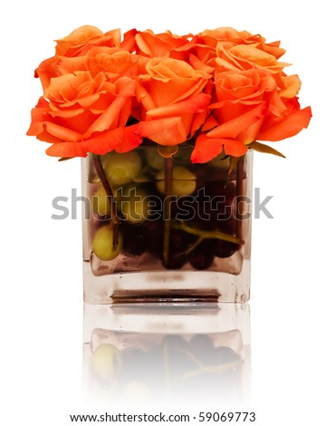 Floral centerpiece with reflection