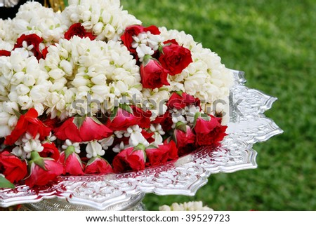 stock photo Floral decorations at an Indian wedding