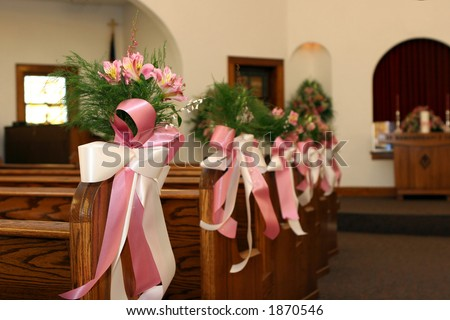 Church Wedding Decorating Pictures Photograph | Floral Decor