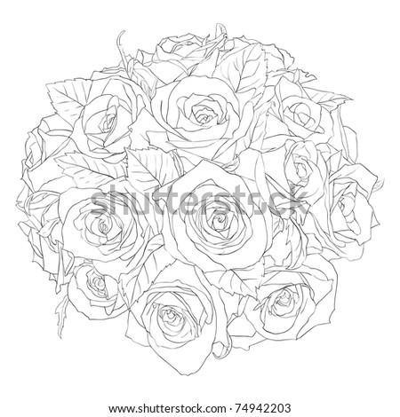 floral design element and hand-drawn ,  illustration