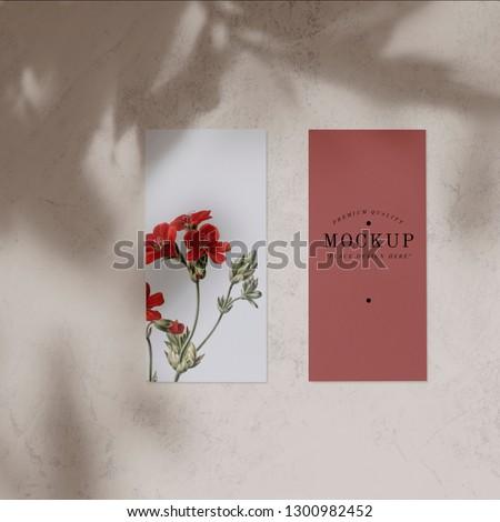 Floral design gift voucher mockup