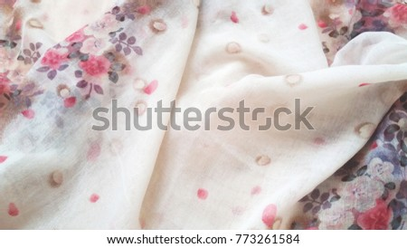 Floral fabric background, floral pattern soft color #773261584