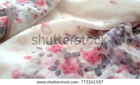 Floral fabric background, floral pattern soft color #773261587