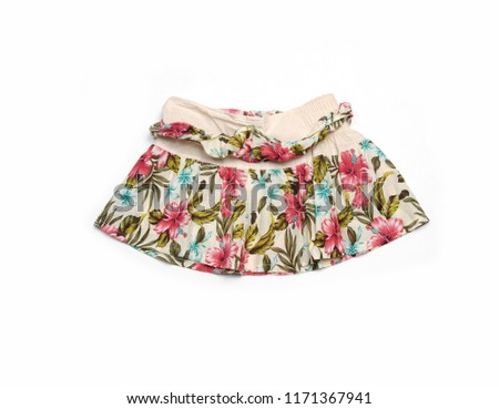 de7126a9813dd6 Jean skirt isolated on white background Images and Stock Photos ...