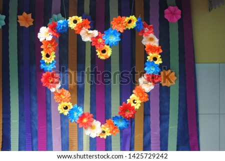 Floral Flower Heart Art Ilustration #1425729242
