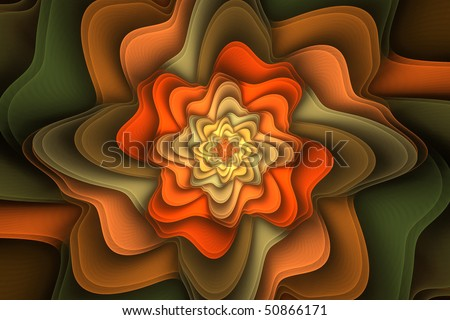 Floral fractal background image for cards, brochures, etc