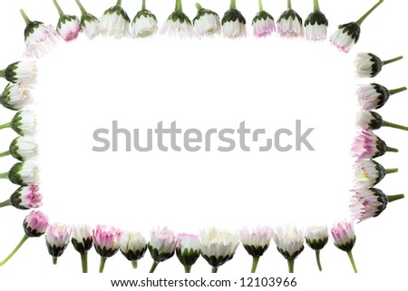 floral frame with space for your text - stock photo