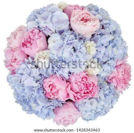 floral fresh bouquet pink blue #1428343463