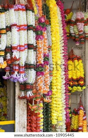floral garland. india