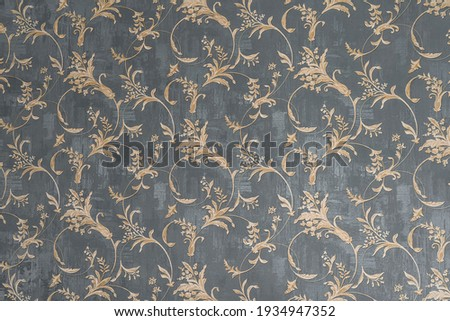 Floral old retro vintage ornament wallpaper on background. Cute ornament floral pattern. Background wall design. Vintage wallpaper