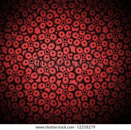 floral pattern dark red