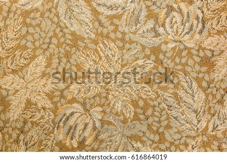 Floral pattern tapestry textile