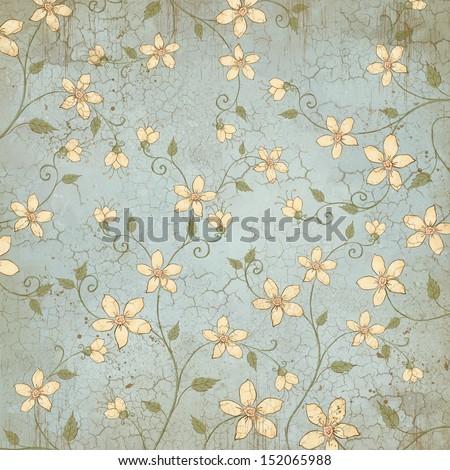 Floral pattern. Wallpaper design. Wild flowers on the wall. Background design. Album cover design. Book bookend design. White flowers design for textile. textile design.