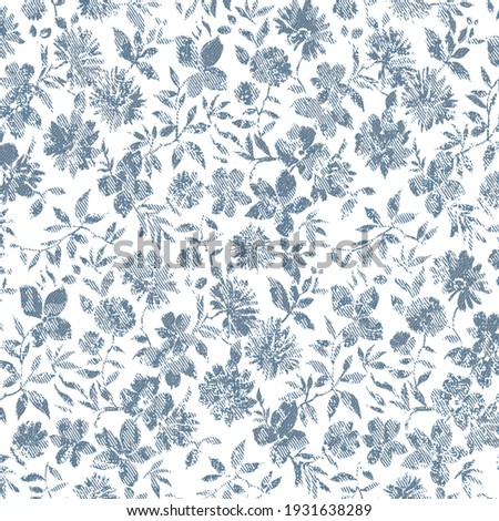 Floral repeat pattern with distressed texture and color  Foto stock ©