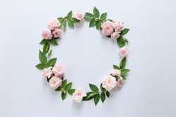 Floral round crown(wreath) with pink rose