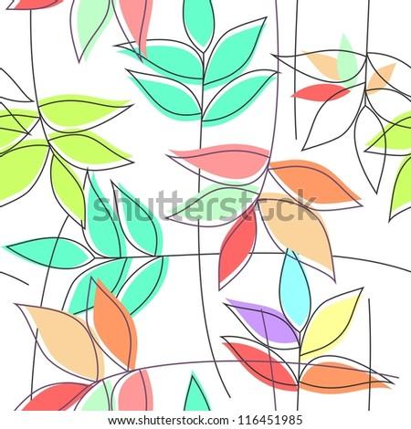 Floral seamless pattern (raster version)