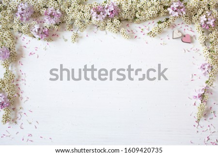 Floral spring background for text greetings, greetings