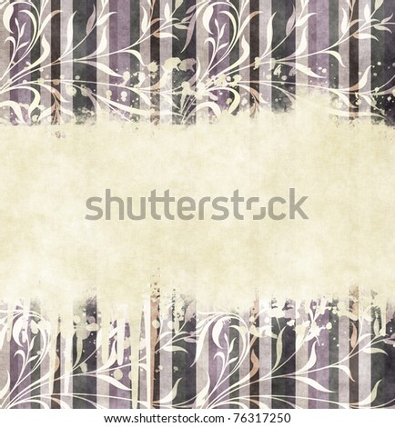 floral striped colored background
