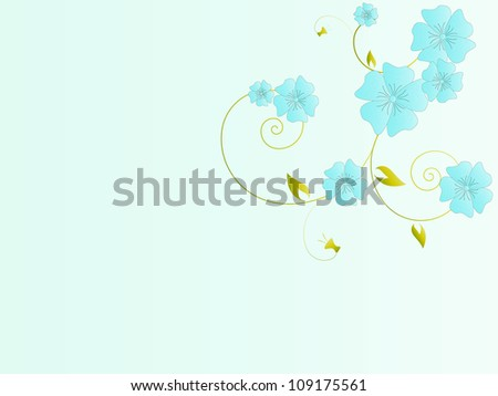 Floral vintage background with vector flowers
