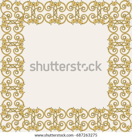Floral vintage frame in small narcissus art nouveau style greeting floral vintage frame in small narcissus art nouveau style greeting card template design m4hsunfo