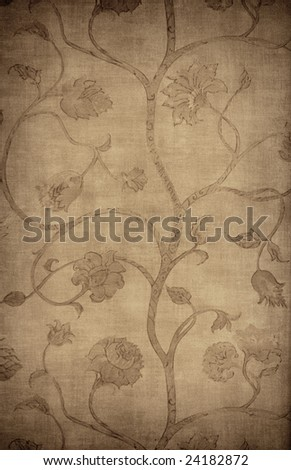 vintage floral wallpaper. stock photo : Floral vintage