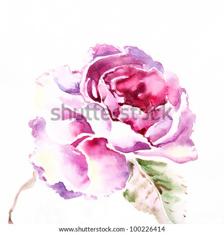 "floral watercolor illustration Album ""Roses watercolor"";"" flower watercolor"""