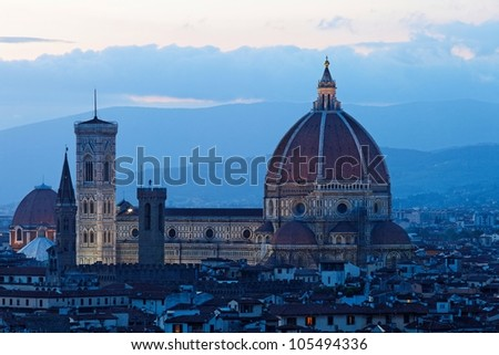 Florence by night - stock photo