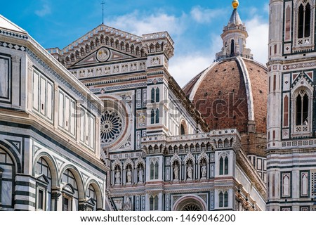 Florence Duomo, Italy. Santa Maria del Fiore cathedral (Basilica of Saint Mary of the Flower). City in the day Stock photo ©