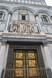 Florence Italy Door of the Baptistery near the Duomo
