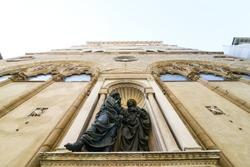 Florence Italy, Orsanmichele facade view