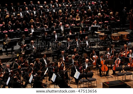 FLORENCE - JANUARY 16: The Maggio Musicale Fiorentino Orchestra January 16, 2010 in Florence, Italy