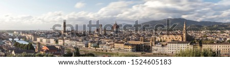 Florence Pano; a maximum resolution panoramic of the Firenze skyline taken from the Michelangelo Piazza #1524605183