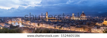 Florence Pano; a maximum resolution panoramic of the Firenze skyline taken from the Michelangelo Piazza #1524605186
