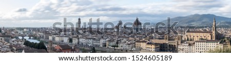 Florence Pano; a maximum resolution panoramic of the Firenze skyline taken from the Michelangelo Piazza #1524605189