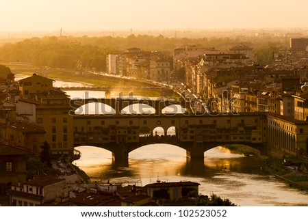 Florence panorama at sunset