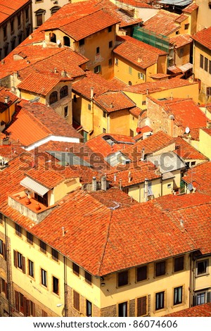 Florence. Roof top view