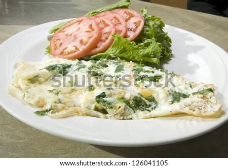 Florentine spinach egg white omelet feta cheese