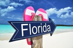 Florida arrow on the beach