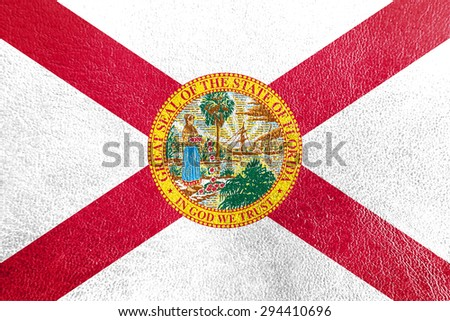 florida flag painted on leather ...