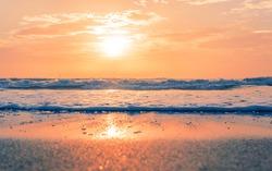 Florida Sandy Cocoa Beach Resort Vacation Beach Sunset
