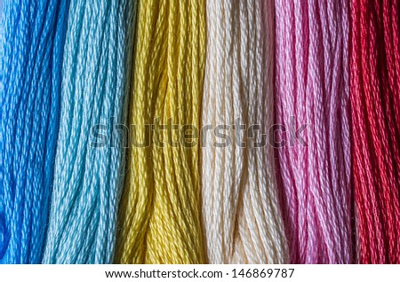 Floss thread for embroidery
