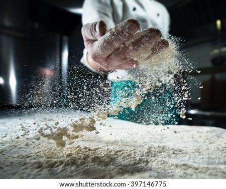 flour baker in kitchen