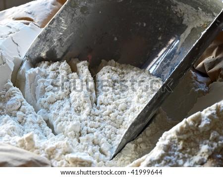 flour shovel in a sack of flour