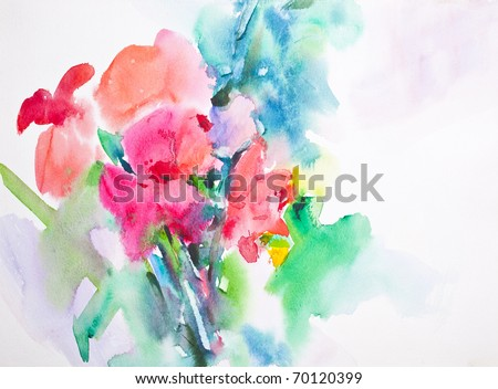 flower, Abstract Water Color