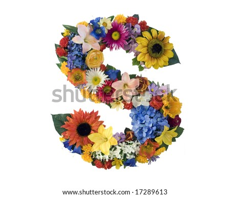 S Alphabet In Flowers Flower Alphabet - S Stock Photo 17289613 : Shutterstock