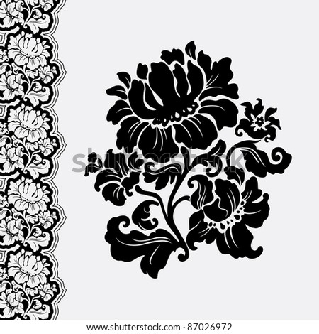 flower and border lace