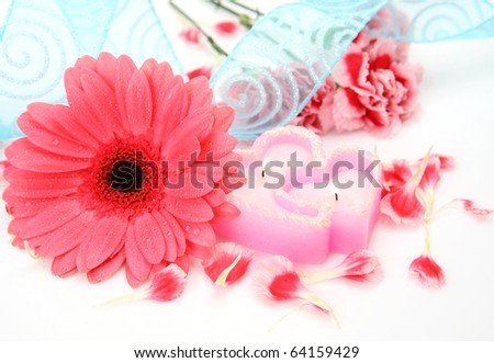 Flower and candles #64159429