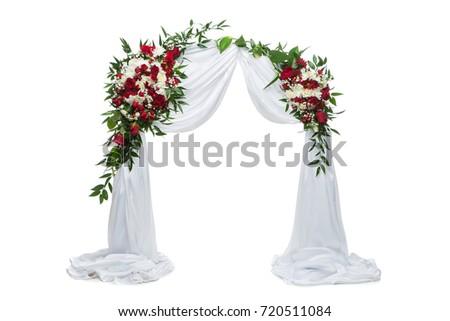 flower arch wedding decoration #720511084