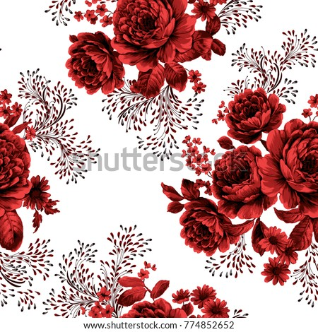 flower art design, the leaves and flowers art design