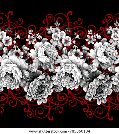 flower art design, the leaves and flowers art design